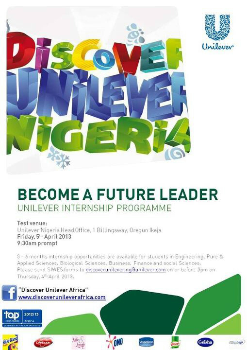 3-6 Month Internship Opportunity at Unilever.
