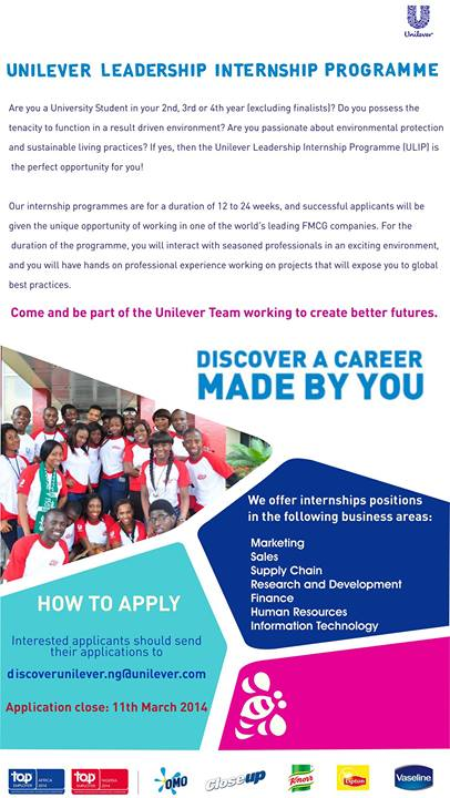 Uniilever Internship